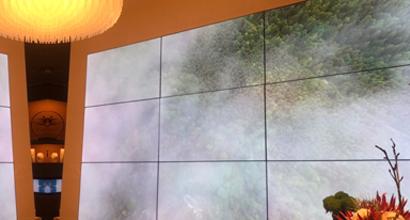 拼接電視牆視覺行銷引人注目
